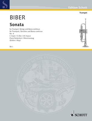 Sonata IV BIBER Partition Trompette - laflutedepan
