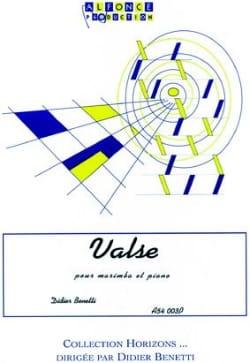 Valse Didier Benetti Partition Marimba - laflutedepan