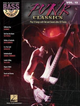 Bass Play-Along Volume 12 - Punk Classics Partition laflutedepan