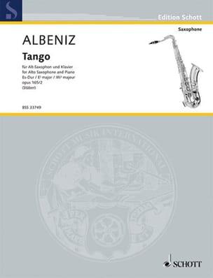 Tango Opus 165 N° 2 ALBENIZ Partition Saxophone - laflutedepan