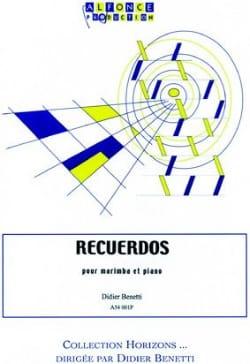 Recuerdos - Didier Benetti - Partition - Marimba - laflutedepan.com