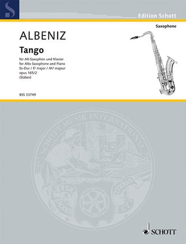 Tango Opus 165 N° 2 - ALBENIZ - Partition - laflutedepan.com