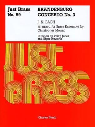 Brandenburg Concerto N° 3 - Just Brass N° 59 - BACH - laflutedepan.com
