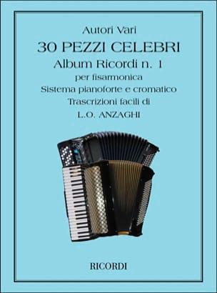 30 Pezzi Celebri Per Fisarmonica Partition Accordéon - laflutedepan