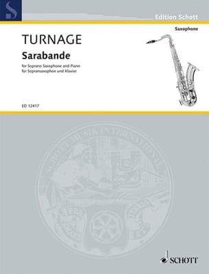 Sarabande Mark-Anthony Turnage Partition Saxophone - laflutedepan