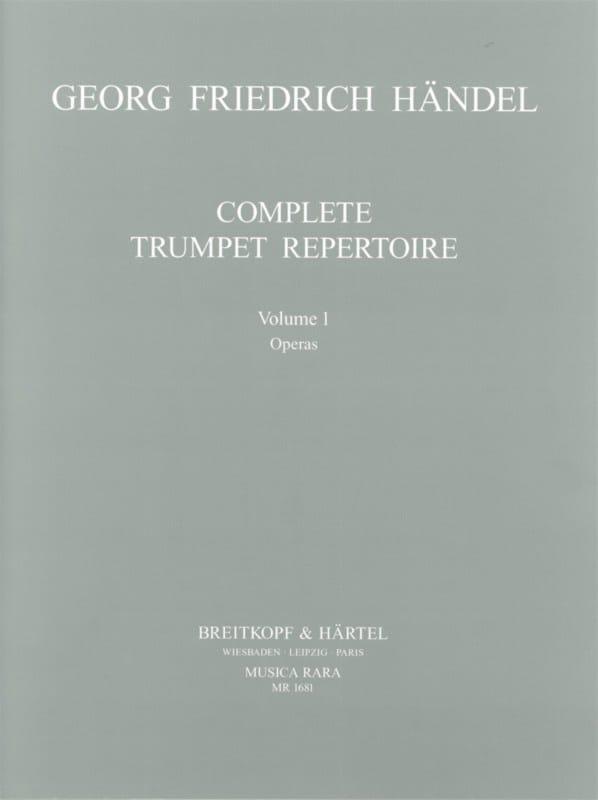 Complete Trumpet Repertoire Volume 1 - HAENDEL - laflutedepan.com