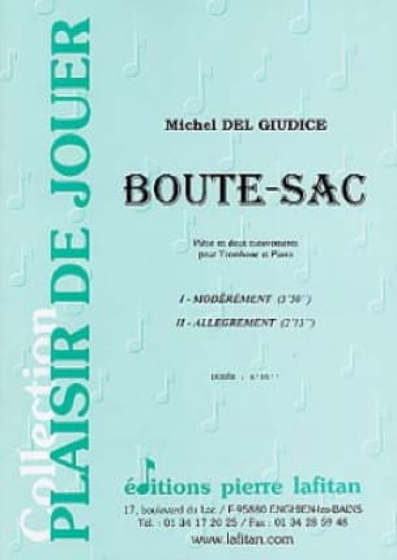 Boute-Sac - Michel Del Giudice - Partition - laflutedepan.com