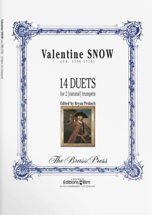 14 Duets Valentine Snow Partition Trompette - laflutedepan