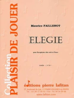 Elegie Maurice Faillenot Partition Saxophone - laflutedepan