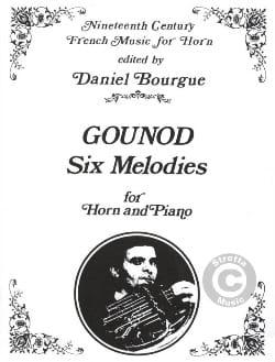 6 Melodies GOUNOD Partition Cor - laflutedepan