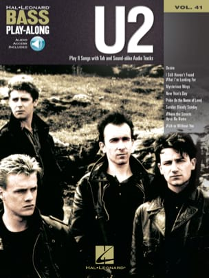 Bass Play-Along volume 41 - U2 - U2 - Partition - laflutedepan.com