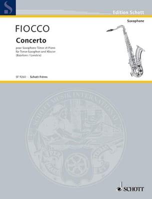 Concerto Pour Cello J.H. Fiocco Partition Saxophone - laflutedepan