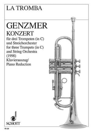 Konzert Harald Genzmer Partition Trompette - laflutedepan