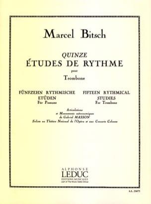 15 Etudes de Rythme Marcel Bitsch Partition Trombone - laflutedepan