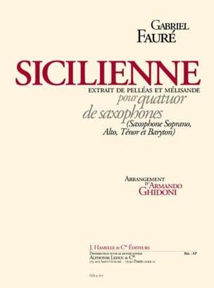 Sicilienne Pelléas Et Mélisande FAURÉ Partition laflutedepan