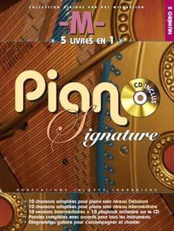 Piano signature numéro 5 - Matthieu Chedid -M- laflutedepan.com