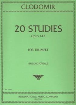 20 Studies Opus 143 Pierre-François Clodomir Partition laflutedepan