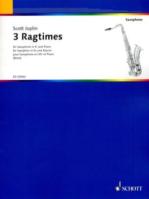 3 Ragtimes JOPLIN Partition Saxophone - laflutedepan