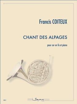 Chant des Alpages Francis Coiteux Partition Cor - laflutedepan