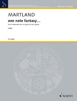 One note fantasy... Steve Martland Partition laflutedepan