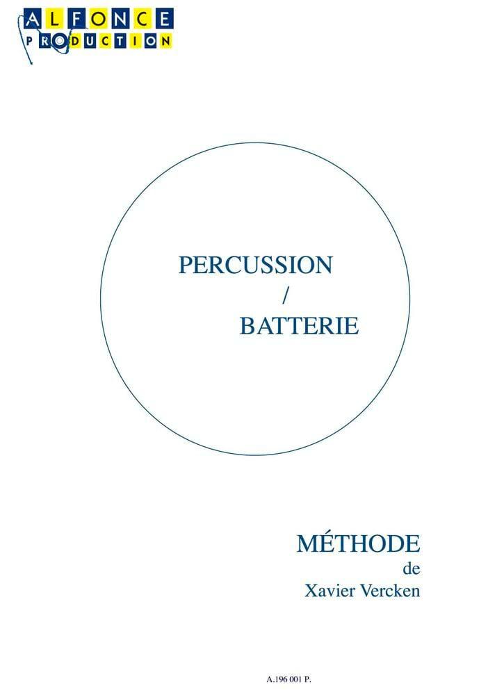 Percussion / Batterie - Xavier Vercken - Partition - laflutedepan.com