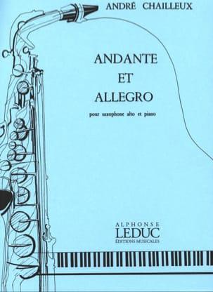 Andante et Allegro André Chailleux Partition Saxophone - laflutedepan