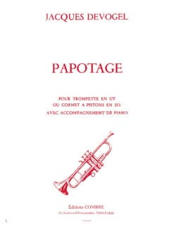 Papotage Jacques Devogel Partition Trompette - laflutedepan