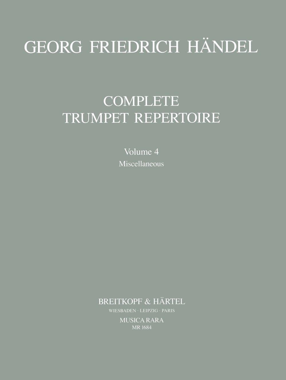 Complete Trumpet Repertoire Volume 4 - HAENDEL - laflutedepan.com