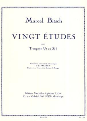 20 Etudes Marcel Bitsch Partition Trompette - laflutedepan
