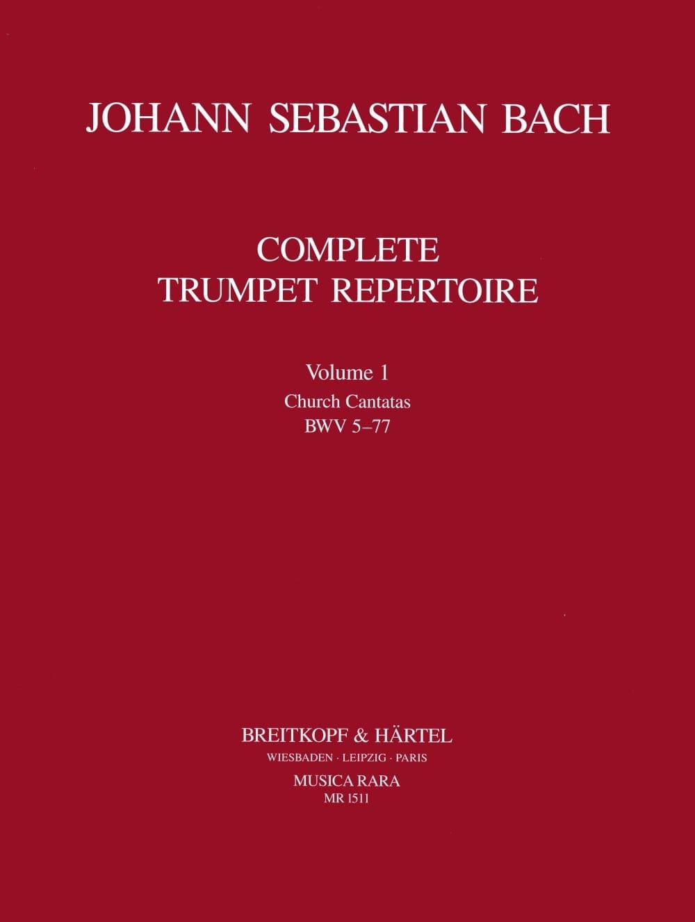 Complete Trumpet Repertoire Volume 1 - BACH - laflutedepan.com
