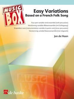Easy variations - music box Jan De Haan Partition laflutedepan