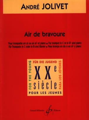 Air de Bravoure André Jolivet Partition Trompette - laflutedepan