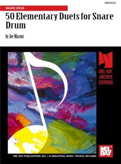 50 Elementary Duets For Snare Drum Joe Maroni Partition laflutedepan
