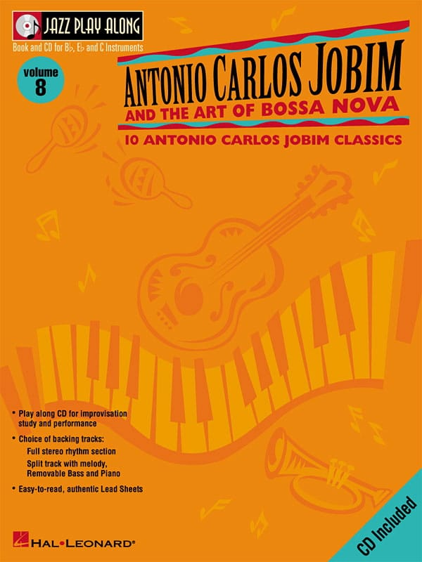 Jazz play-along volume 8 - A.C. Jobim And The Art Of Bossa Nova - laflutedepan.com