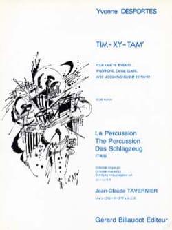 Tim-Xy-Tam Yvonne Desportes Partition Multi Percussions - laflutedepan