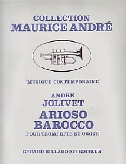 Arioso Barocco André Jolivet Partition Trompette - laflutedepan