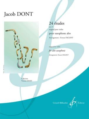 24 Etudes opus 37 - Original pour violon Jacob Dont laflutedepan