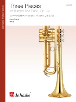 Three pieces opus 72 Itaru Sakai Partition Trompette - laflutedepan