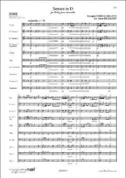 Sonate en ré - Ensemble Philip Jones - CORELLI - laflutedepan.com
