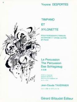 Timpano Et Xylonette Yvonne Desportes Partition laflutedepan