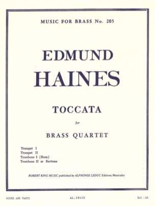 Toccata Edmund Haines Partition Ensemble de cuivres - laflutedepan