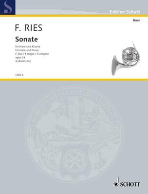 Sonate En Fa Majeur Opus 34 Ferdinand Ries Partition laflutedepan