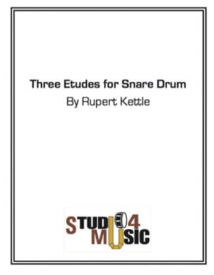 Three Etudes For Snare Drum Rupert Kettle Partition laflutedepan