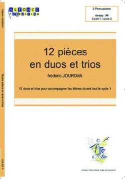 12 Pièces En Duos Trios Frédéric Jourdan Partition laflutedepan