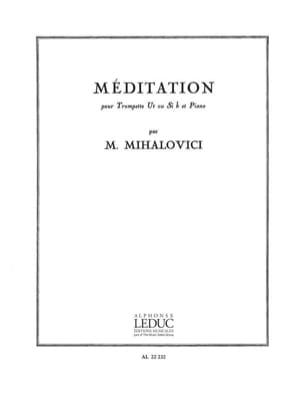 Méditation Marcel Mihalovici Partition Trompette - laflutedepan