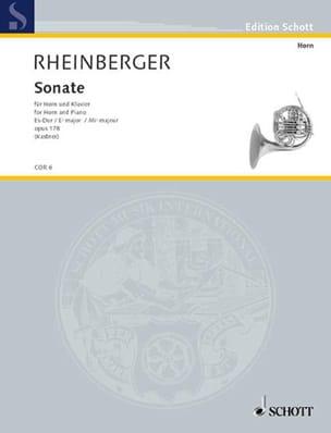 Sonate en Mib majeur Opus 178 RHEINBERGER Partition Cor - laflutedepan