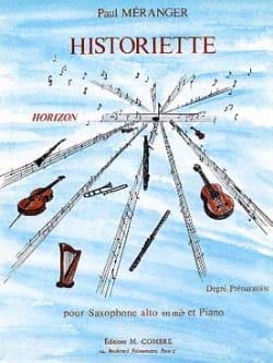 Historiette Paul Méranger Partition Saxophone - laflutedepan