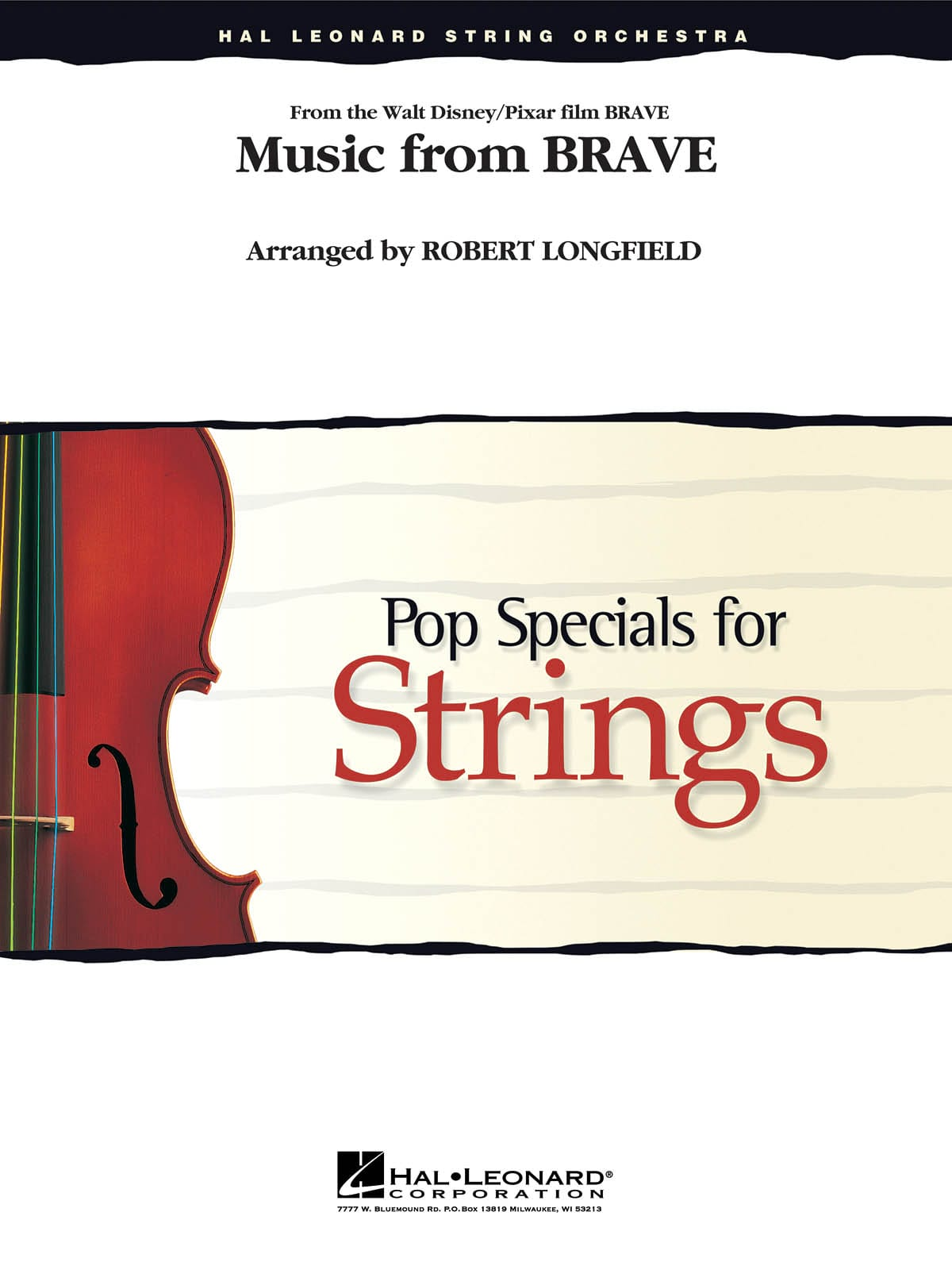 Music From Brave - Pop Specials for Strings - laflutedepan.com