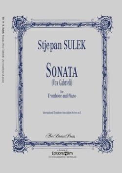 Sonata Vox Gabrieli Stjepan Sulek Partition Trombone - laflutedepan
