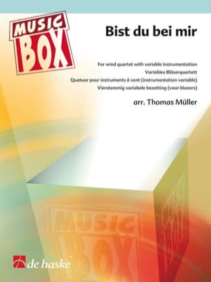 Bist du bei mir - music box BACH Partition ENSEMBLES - laflutedepan